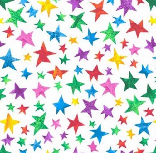 Makower Very Hungry Caterpillar Stars Fabric